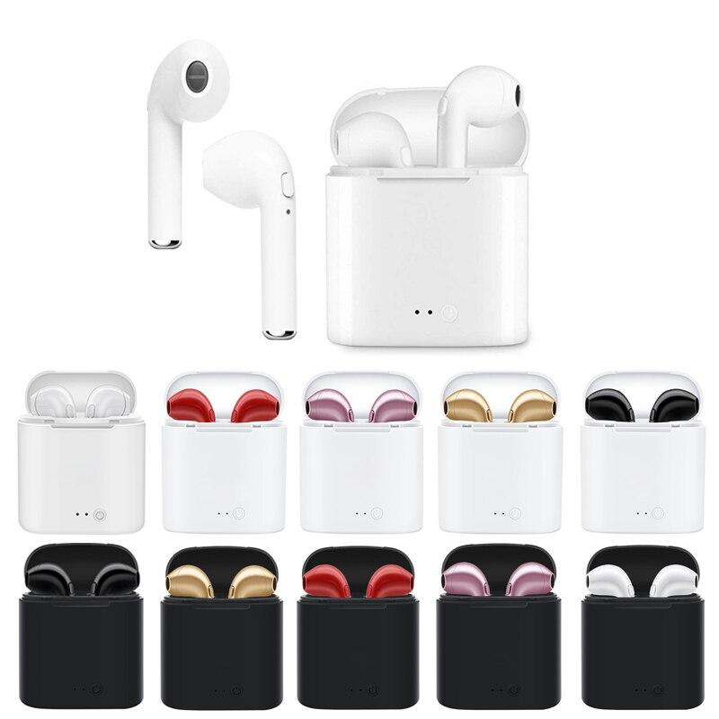I7 i7S TWS Беспроводная стерео Bluetooth гарнитура бас Беспроводные наушники с микрофоном зарядная коробка для всех смартфонов