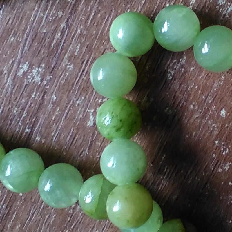 Fltmrh Batu Alam Bunga Hijau Lisa 'S Manik-manik Bulat Longgar Beads untuk Perhiasan Membuat DIY Gelang Kalung 15''strand 4/6 /8/10