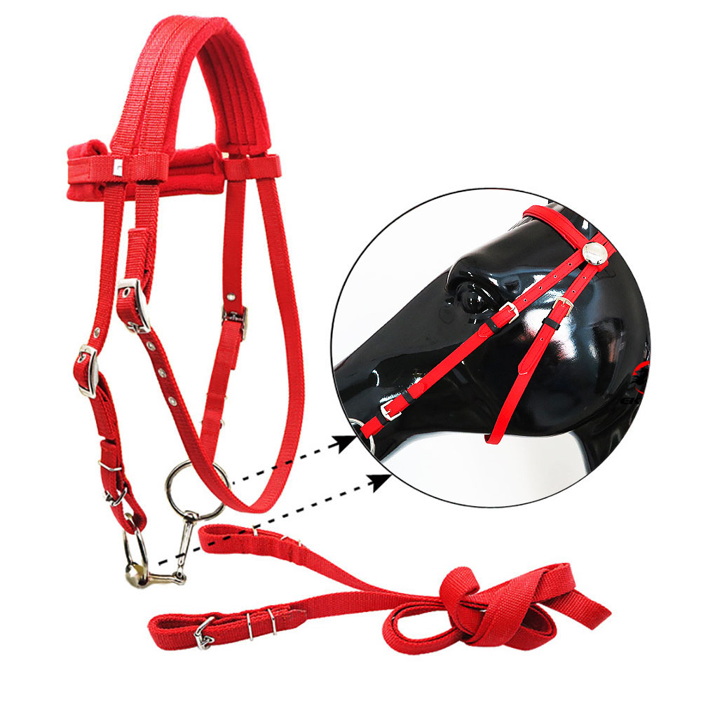 Horse Reins Elastic Black Neck Stretcher Horse Riding Full Strape Rope Wear-Resistant Equestrian Supplies Soft Thicken Race