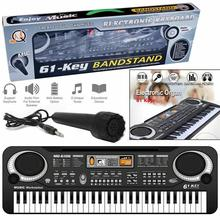 Электронная клавиатура для детей, 61 Ключ, электронный орган с микрофоном, Электрический пианино, музыка, развивающие, подарок на день рождения