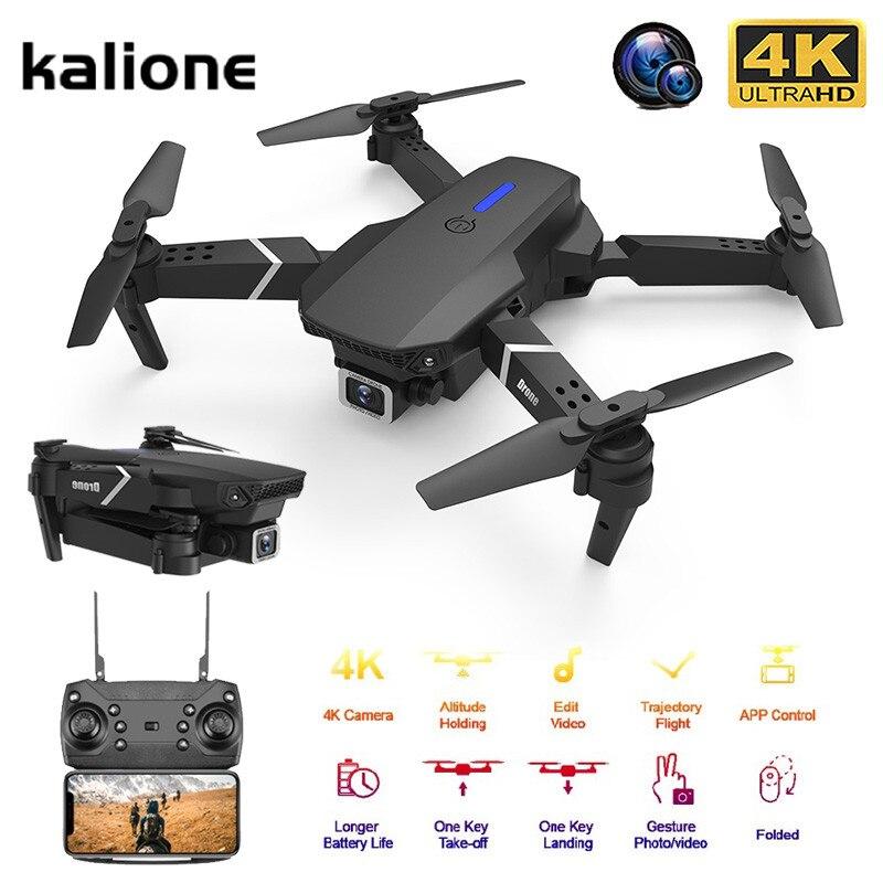 KALIONE E525 Mini Drone With HD 4K 1080P Camera Helicopter WIFI FPV Foldable Profissional RC Quadcopter Dron VS SG907 E58 E520