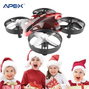 Mini Dron rojo Global Apex, Mini Dron rc, helicóptero sin cabeza, Mini cuadrocóptero, el mejor juguete para niños, zabawki