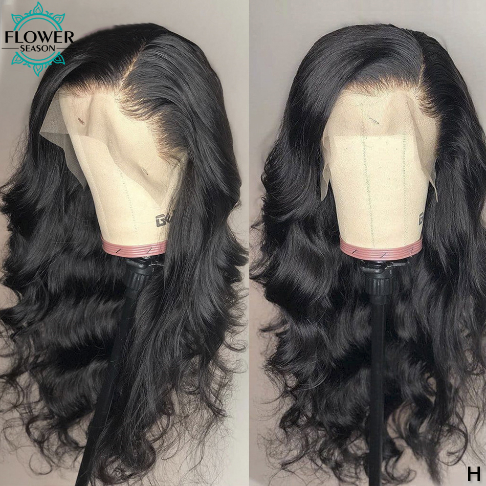 5x4.5 Silk Top Lace Front Wig Wavy Glueless 13x6 Human Hair Lace Front Wigs With Baby Hair Remy Brazilian 130% 150% FlowerSeason