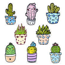Cartoon Potted plant set pins Kawaii Cactus badges brooches Lapel pin Jackets Clothes bag hat jewelry gifts for women girls(China)