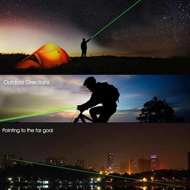 Paduan Logam Berkualitas Tinggi Laser Pointer 5MW Daya Tinggi Biru Merah Hijau Dot Penunjuk Laser Pena Cahaya Yang Kuat laser Meter Panas