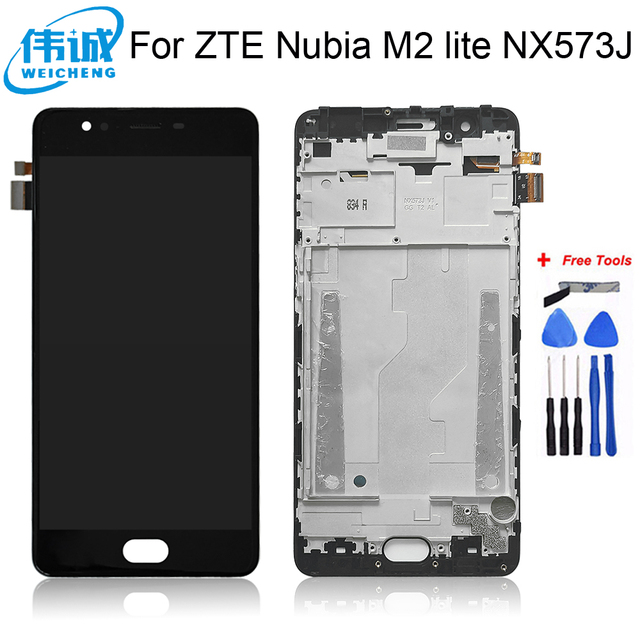 WEICHENG For ZTE Nubia M2 lite NX573J LCD Display and Touch Screen Assembly Phone Accessories For ZTE Nubia M2 lite +Free Tools