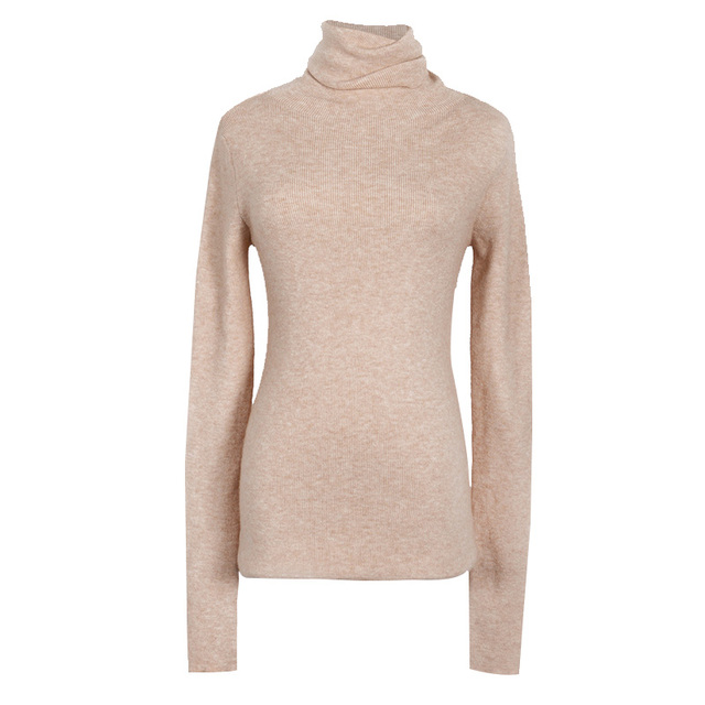 Autumn and Winter New Cashmere Sweater Women High Collar Pullover Fashion Sweater Warm Bottom Sweater 2