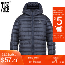 TIGER FORCE 2020 New Men's Winter Jacket Casual Hooded cotton brand clothes