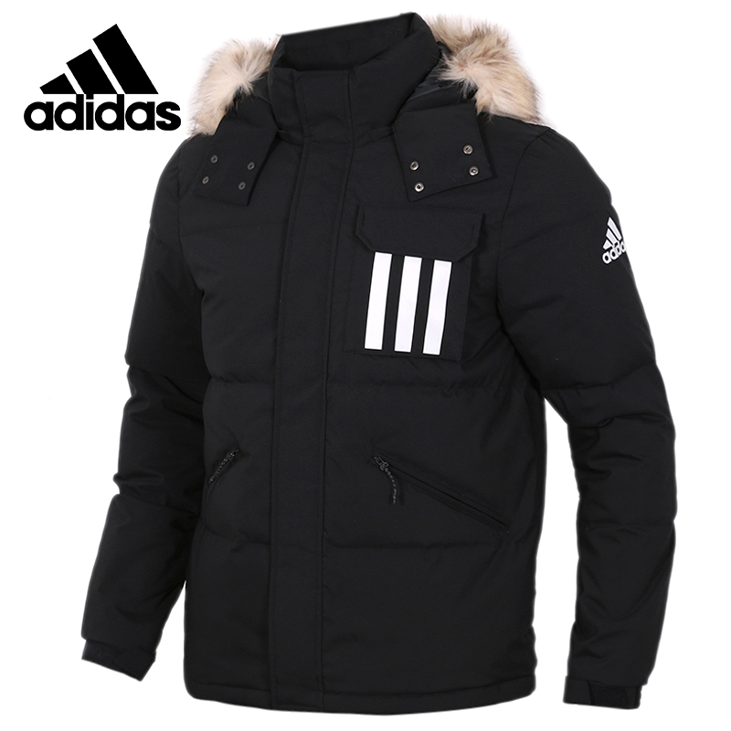 Original Adidas DOWN PUFFA 3STR Mens Down Coat Hiking Outdoors Down Sportswear DT7917
