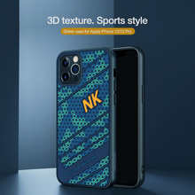 Pour iPhone 12 Pro / 12 Pro Max étui Nillkin luxe attaquant 3D Texture Silicone couverture arrière pour iPhone 12 12 mini coque de téléphone