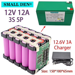 Image 2 - 12V 12Ah 20Ah 18650 li ion battery pack 3S 12.6V for Sprayer Appliance Uninterrupted Power Supply With 20A Balanced BMS+ Charger