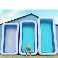 Inflatable Pool Family Swimming Center Inflatable Swimming Children's Pool Rectangular Paddling Pool Suitable
