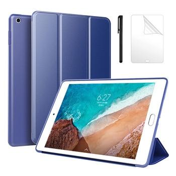 Para Xiaomi MiPad 4 Plus funda para Xiaomi Mi Pad 4 8,0 10,1 Ultra fina funda de silicona suave funda inteligente para tableta + bolígrafo