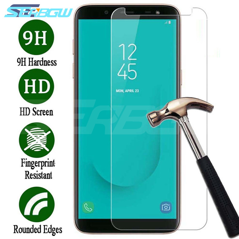 9H Tempered Glass on the For Samsung Galaxy J3 J5 J7 2015 2016 2017 J2 J4 J6 J8 Plus 2018 Screen Protector HD Protective Film image