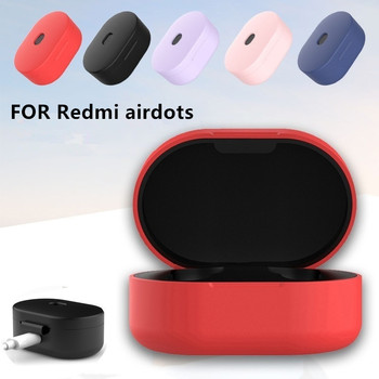 Silicone Earphone Case for Xiaomi MI Redmi AirDots Headphones Protective Cover TWS Bluetooth Earphone Wireless Headset Shell image