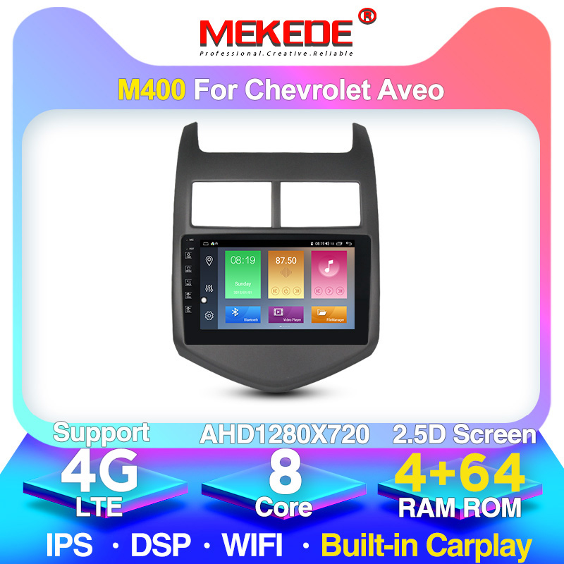 MEKEDE M400 Android 10 For Chevrolet <font><b>Aveo</b></font> 2 2011-2015 Car Radio Multimedia Video Player Navigation GPS No 2din 2 din dvd image