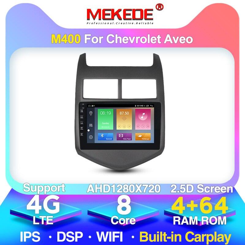 MEKEDE M400 Android 10 para Chevrolet Aveo 2 2011-2015 auto Radio Multimedia reproductor de Video GPS de navegación No 2din 2 din dvd