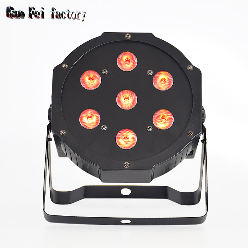 Mini Dmx Wash Led Par Light High Bright Led Rgbw 4in1 Flat Par Light With Power In/out For Mini Stage Light Dj Party