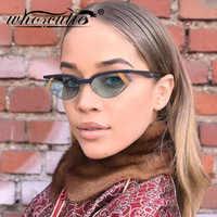 Fashion Stripe Cat Eye Small Sunglasses Women 2019 Luxury Brand Design Vintage Half Frame 90S Sun Glasses Chic Triangle S077