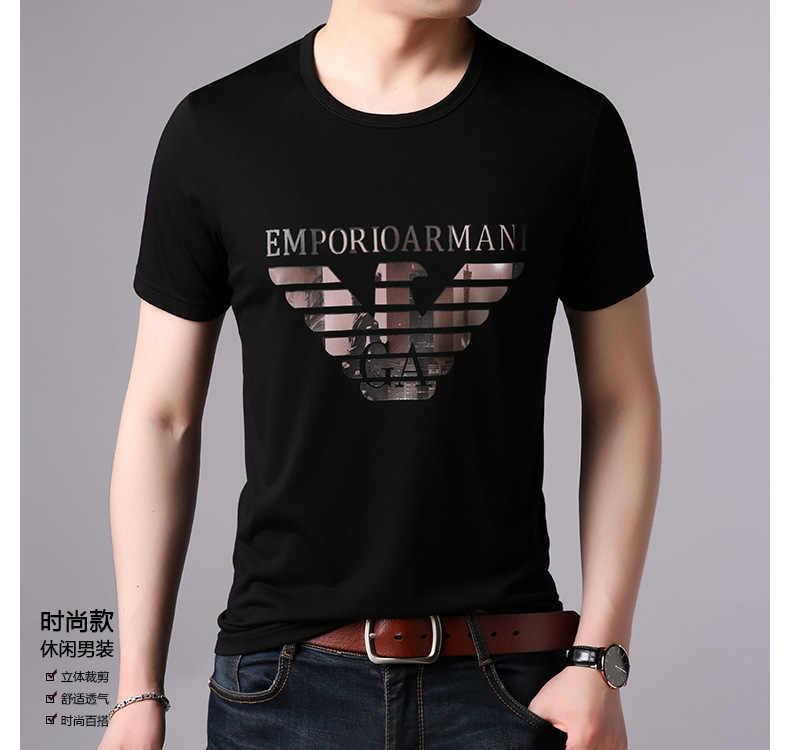 Supply of Goods 2019 New Style MEN'S Short Sleeve Shirt Printed T-shirt Cotton Linen Tops Hot Selling T-shirt T668