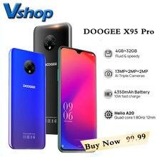DOOGEE X95 Pro 4GB + 32GB Helio A20 smartfony 13MP potrójna kamera 4350mAh 6.52 ''telefon komórkowy Android10 4G-LTE Face ID telefon komórkowy