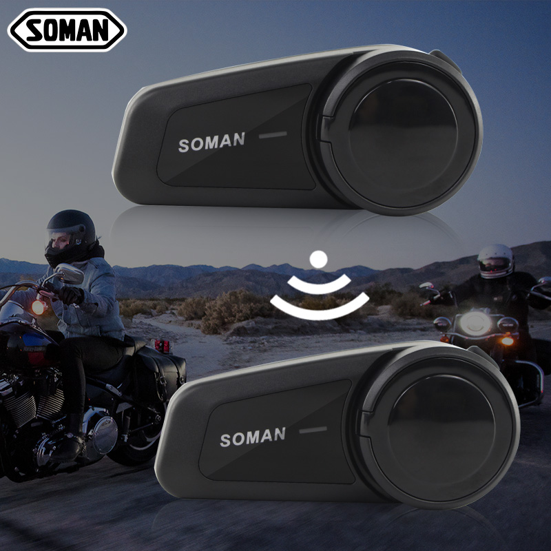 2 stücke 1000m Motorrad Bluetooth Sprech Universal Paarung Bluetooth Helm Intercom Headset Intercomunicador Moto SM-M2