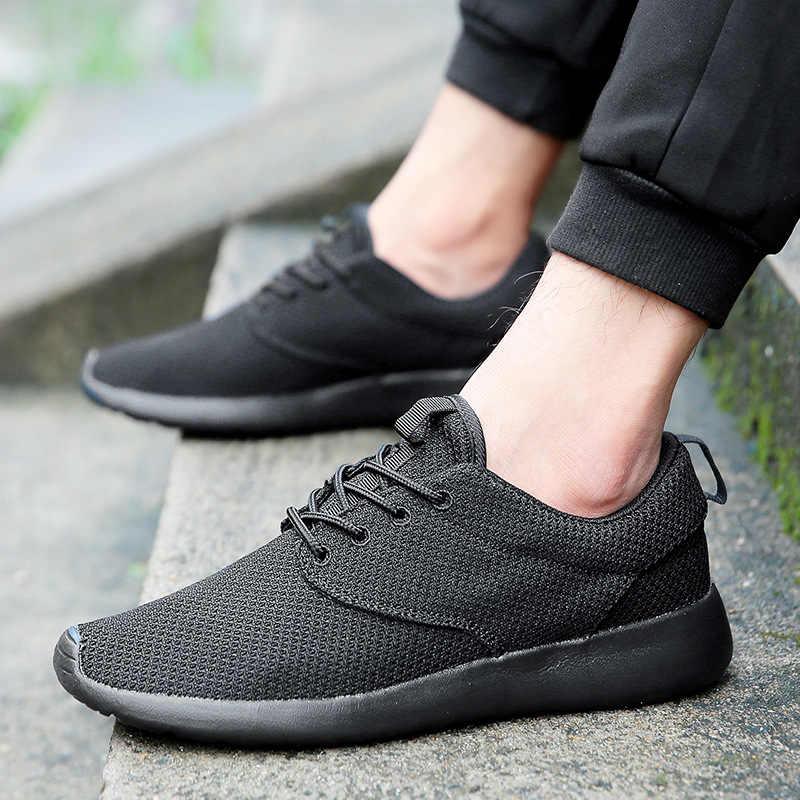 รองเท้าผู้ชาย 2019 ฤดูใบไม้ร่วงสีดำรองเท้าผู้ชายรองเท้าสไตล์เกาหลีสไตล์อเนกประสงค์กีฬารองเท้าฤดูใบไม้ร่วงผู้ชายสบายๆ