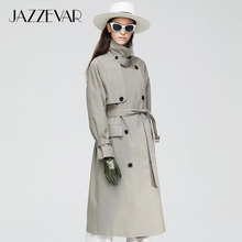 JAZZEVAR2019 New arrival autumn trench coat women top khaki