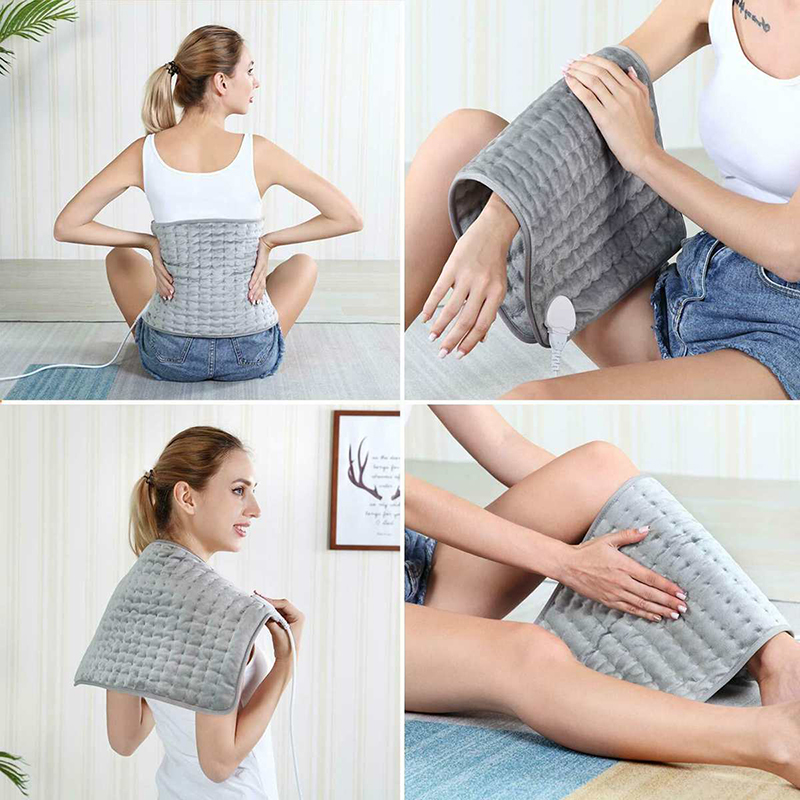 Human - Electric Heating Pad Blanket Heat Pads For Back Neck Pain Relief Aesthetic Thermal Blanket Calming Heat Massaging Heating Pad