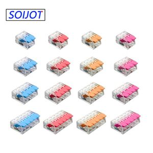 Wire Connector (30-100)pcs/lot Mini Fast Universal Wiring Cable Connector Push-in Conductor Terminal Block 221-412 221-413(China)