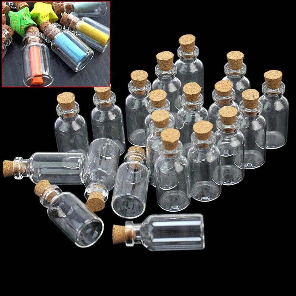 Cute Mini Cork Stopper Glass Vial Jars Containers Bottle Drift Bottle 21 Styles