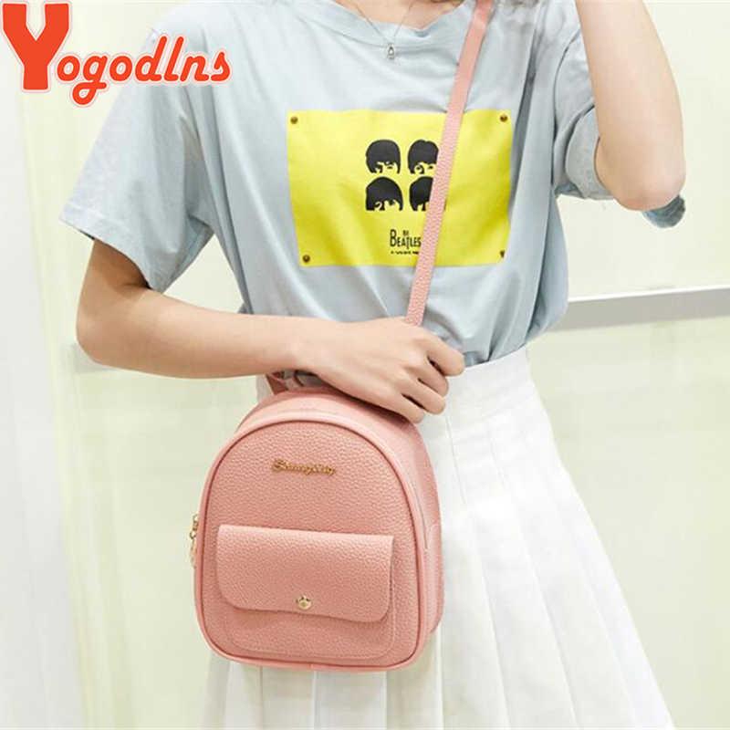 Yogodlnsミニバックパック女性のpuレザーショルダーバッグ十代の少女子供多機能bagpack女性スクールバッグ嚢