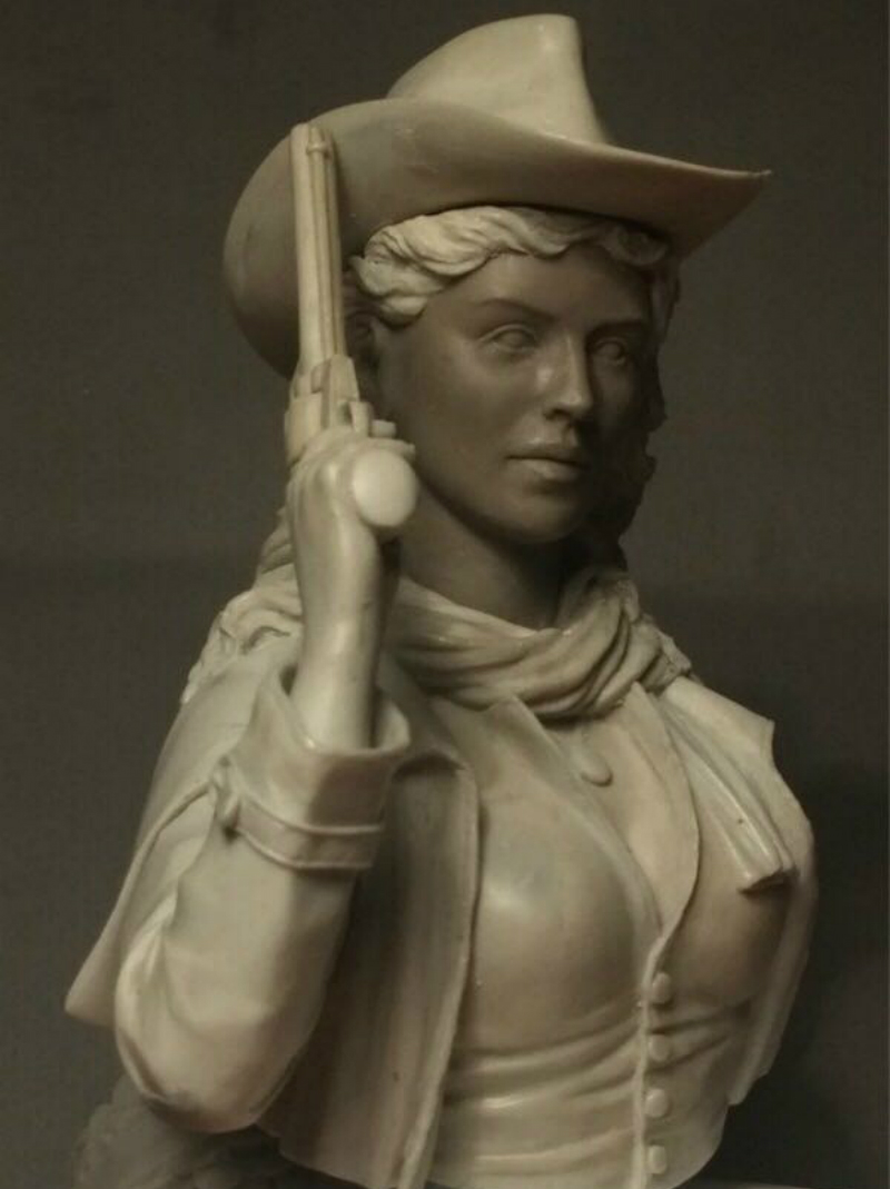 1/9 Resin Bust Model Kit  Cowgirl  Unpainted And  Unassembled Free Shipping  273D