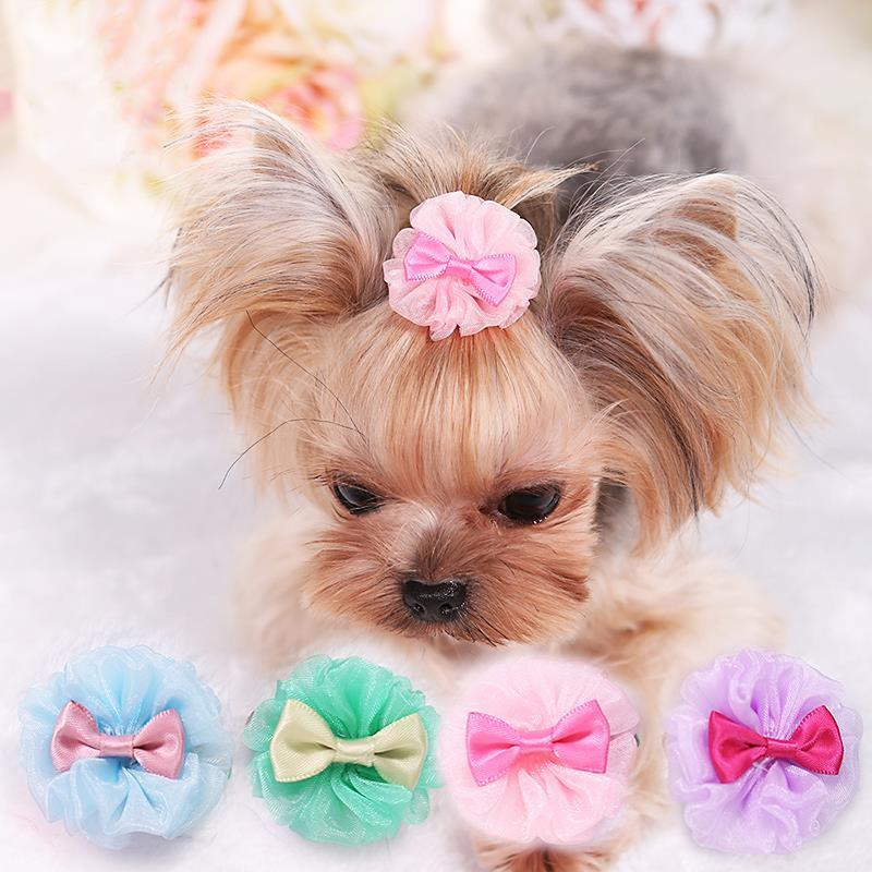 1PC Small Dogs Bow Hair Grooming Puppy Accessories Supplies For Pet Hair Clip Grooming Bowknot Headdress