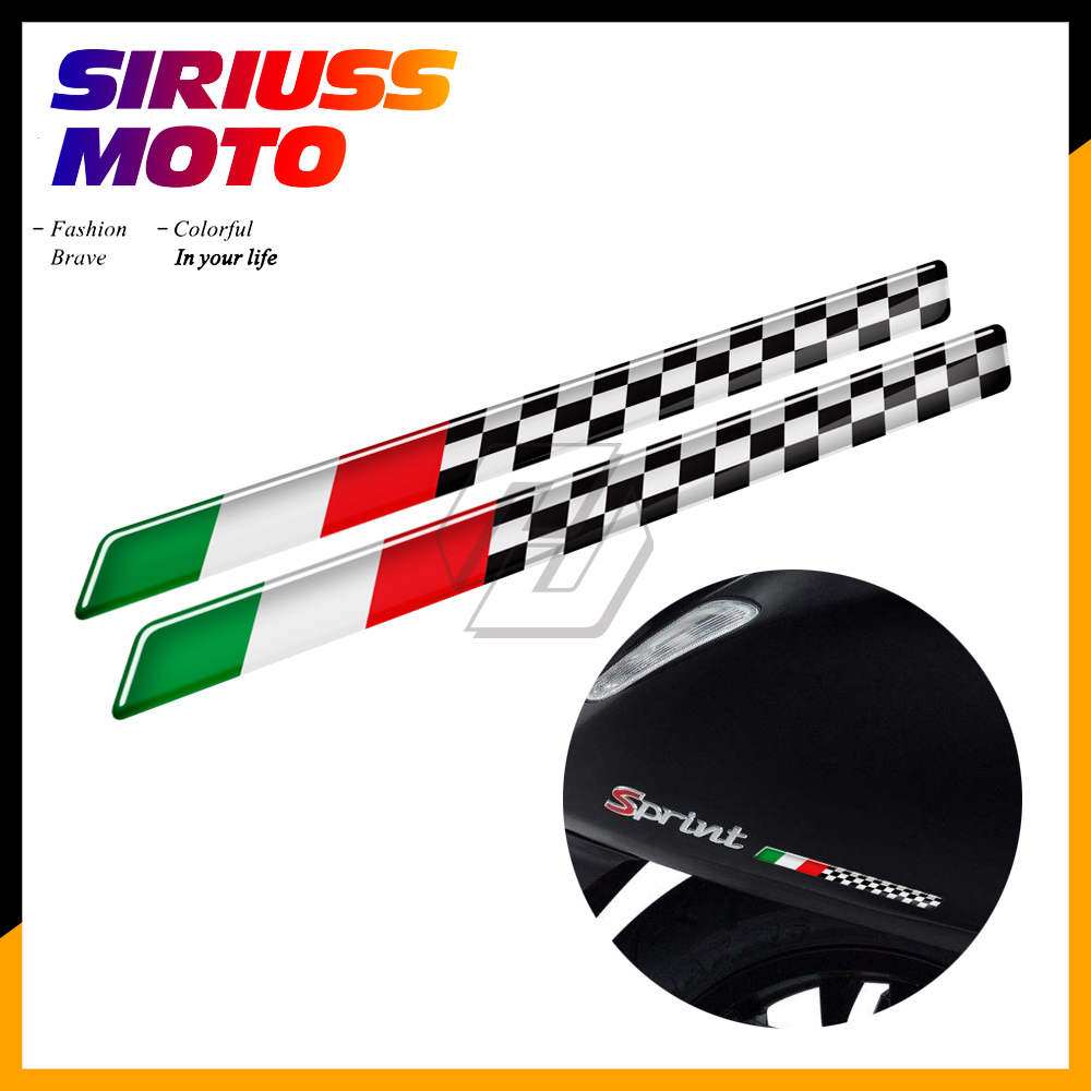 3D Motorcycle Tank Decal Italy Flag Racing Stickers Case For Aprilia Ducati Honda Suzuki Kawasaki Yamaha For Piaggio Vespa