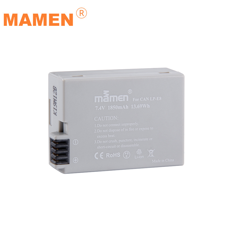 Mamen Rechargeable 1850mAh LP-E8 LP E8 LPE8 Digital Camera <font><b>Battery</b></font> For <font><b>Canon</b></font> EOS 5D <font><b>700D</b></font> 50D 600D 650 Rebel T5i T3i <font><b>Batteries</b></font> image