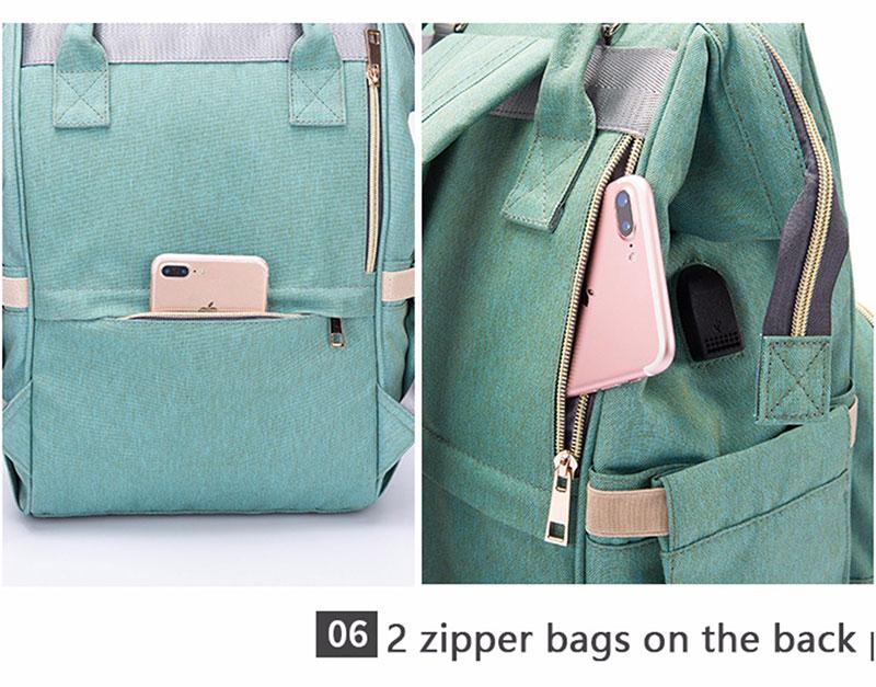 H1414028f547a4137bfd4f09217f51c7aK Diaper Bag With USB Interface Large Capacity Travel Backpack Nursing Handbag Waterproof Nappy Bag Kits Mummy Maternity Baby Bag