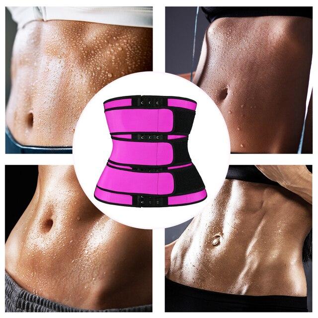 Waist Trainer Thermo Sweat Slimming Belt Waist Trainer Girdle Corset Women Tummy Body Shaper Fat Burning Fitness Modeling Strap 4
