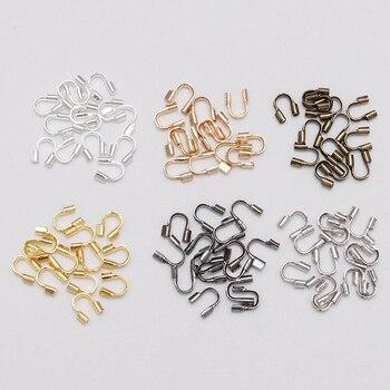 цена на 100Pcs/lot 4.5MM*4MM U Shape Wire Clasps Connectors For Jewelry Making Findings End Wire Proctectors