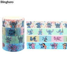 Blinghero Lilo 15mmX5m Cartoon Masking Tape Cute Washi Adhesive Stickers Decorative Stationery BH0484