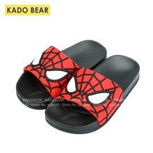 Детские босоножки «Человек-паук»; домашняя обувь для мальчиков; Детские пляжные сандалии; милые забавные Вьетнамки с героями мультфильмов
