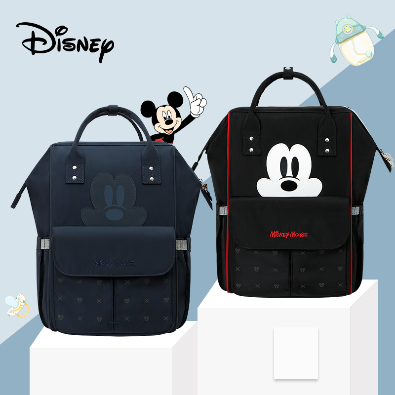 Cute Mickey USB Diaper Bag Waterproof Baby Maternity Bag Stroller Big Large Capacity Changing Bag Baby Minnie Pre-design
