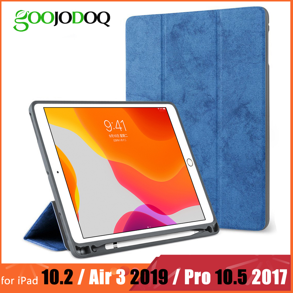 For IPad Pro 10.5 Case With Pencil Holder For IPad Air 3 2019 Case Funda, GOOJODOQ For IPad 10.2 2019 Case Pro 10.5 Case 2017