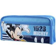 Mickey cute cartoon pencil case bag simple stationery sky blue pen