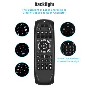Image 2 - L8star G7 Voice Remote Mouse Russische Keyboard 5 Ir Leren Toetsen 2.4G Voice Draadloze Backlit Keyboard Air Mouse Met gyroscoop