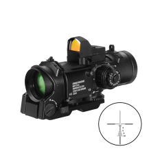 Optyka taktyczna luneta 1x-4x stała 2-w-1 zakres z Mini czerwona kropka luneta luneta luneta dla Airsoft wiatrówki Caza tanie tanio BESTSIGHT Karabin