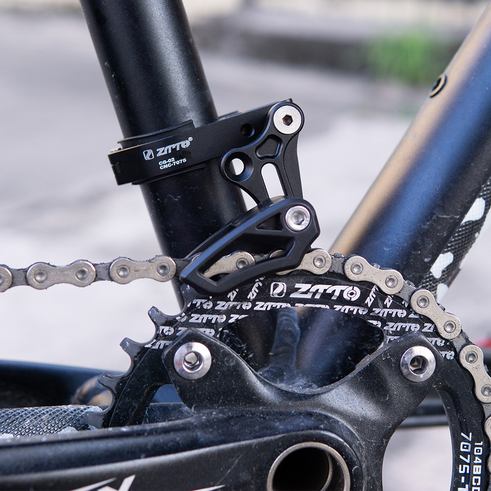 Image 3 - ZTTO Bicycle Chain guide CG02 31.8 34.9 Clamp Mount Chain Guide Direct Mount E type Adjustable For MTB Mountain Gravel Bike 1X-in Bicycle Chain from Sports & Entertainment