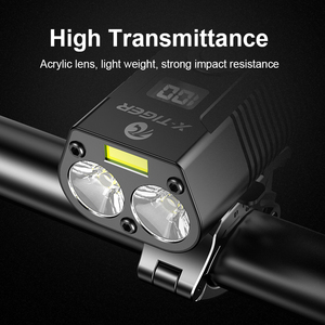 Image 4 - X TIGER 4000mAh Bicycle Light 1800 Lumens MTB Cycling Front Flashlight Power Display Mountain Bike Light USB Rechargeable Led