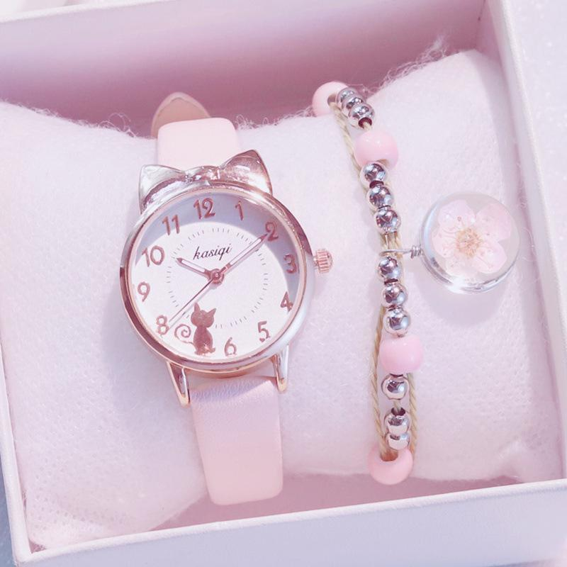 New Fashion Women Watches Cute Pink Ladies Casual Leather Quartz Watch Female Clock Relogio Feminino Montre Femme Zegarek Damski