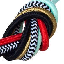 Cable de tela de alambre trenzado de 2 m, 3 m, 5m o 10 m/lote certificado VDE, Cable de alimentación para lámpara de tela de Color textil redondo de 2 núcleos